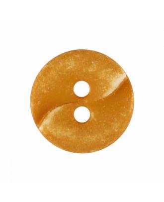 kleiner Polyamidknopf mit einer Welle und zwei Löchern - Größe: 13mm - Farbe: gelb - Art.Nr. 225824