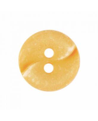 kleiner Polyamidknopf mit einer Welle und zwei Löchern - Größe: 13mm - Farbe: gelb - Art.Nr. 225826