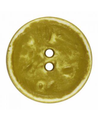 Polyamidknopf rund im Vintage Look und 2 Löchern - Größe: 28mm - Farbe: hellgrün - Art.-Nr.: 376807
