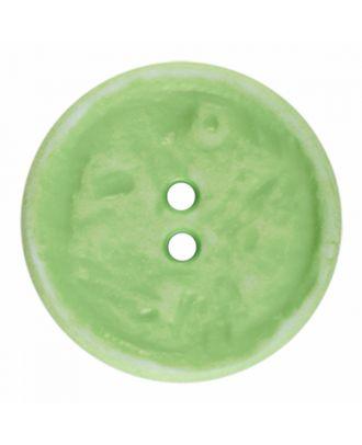Polyamidknopf rund im Vintage Look und 2 Löchern - Größe: 28mm - Farbe: hellgrün - Art.-Nr.: 376808