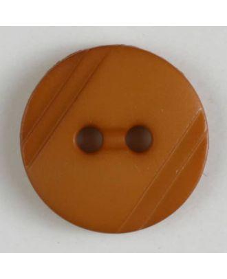 Blusenknopf mit seitlichen Streifen mit 2 Löchern -  Größe: 13mm - Farbe: beige - Art.Nr. 217601