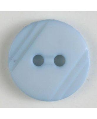 Blusenknopf mit seitlichen Streifen mit 2 Löchern - Größe: 13mm - Farbe: blau - Art.Nr. 217603