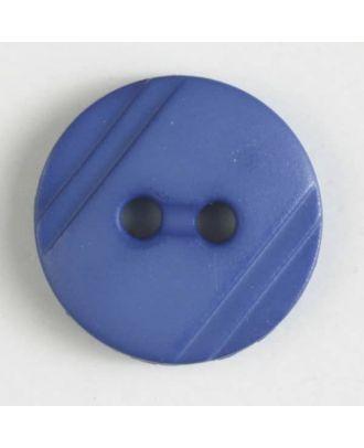 Blusenknopf mit seitlichen Streifen mit 2 Löchern -  Größe: 13mm - Farbe: blau - Art.Nr. 217604