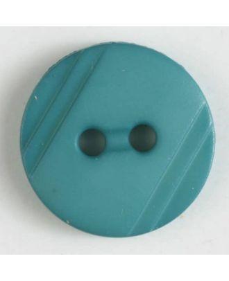 Blusenknopf mit seitlichen Streifen mit 2 Löchern - Größe: 13mm - Farbe: grün - Art.Nr. 217606