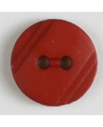 Blusenknopf mit seitlichen Streifen mit 2 Löchern - Größe: 13mm - Farbe: orange - Art.Nr. 217613