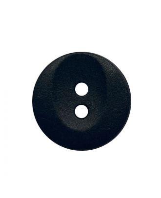 Polyamidknopf rund mit 2 Löchern - Größe:  13mm - Farbe: schwarz - ArtNr.: 221970