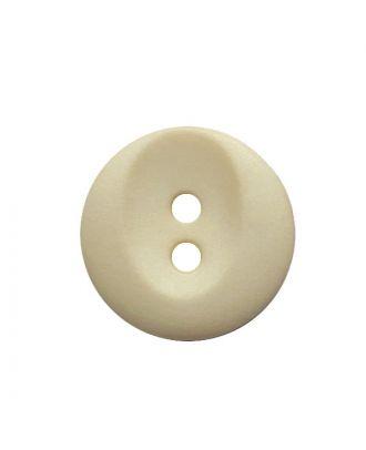 Polyamidknopf rund mit 2 Löchern - Größe:  13mm - Farbe: beige - ArtNr.: 222051