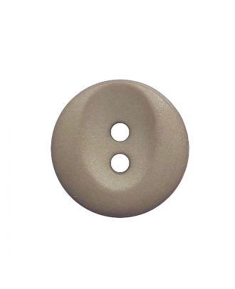 Polyamidknopf rund mit 2 Löchern - Größe:  13mm - Farbe: beige - ArtNr.: 222053
