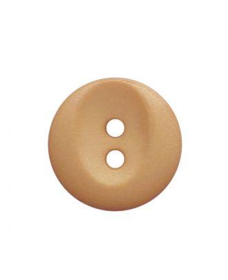 Polyamidknopf rund mit 2 Löchern - Größe:  13mm - Farbe: beige - ArtNr.: 222054