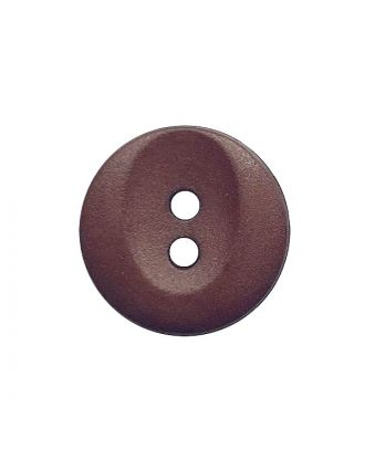 Polyamidknopf rund mit 2 Löchern - Größe:  13mm - Farbe: braun - ArtNr.: 222055
