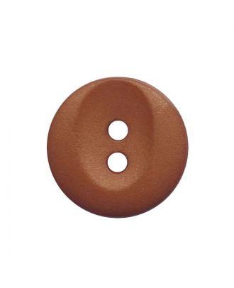 Polyamidknopf rund mit 2 Löchern - Größe:  13mm - Farbe: braun - ArtNr.: 222056