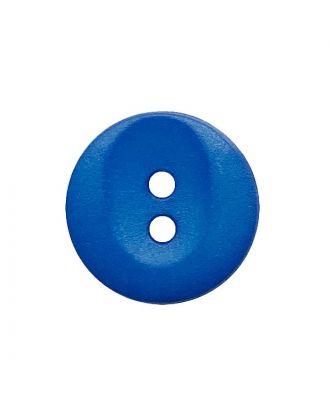 Polyamidknopf rund mit 2 Löchern - Größe:  13mm - Farbe: blau - ArtNr.: 222057