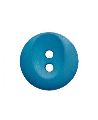 Polyamidknopf rund mit 2 Löchern - Größe:  13mm - Farbe: blau - ArtNr.: 222058