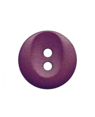Polyamidknopf rund mit 2 Löchern - Größe:  13mm - Farbe: brombeer - ArtNr.: 222061