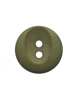 Polyamidknopf rund mit 2 Löchern - Größe:  13mm - Farbe: khaki - ArtNr.: 222062