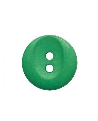 Polyamidknopf rund mit 2 Löchern - Größe:  13mm - Farbe: grün - ArtNr.: 222063