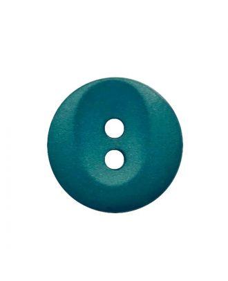Polyamidknopf rund mit 2 Löchern - Größe:  13mm - Farbe: petrol - ArtNr.: 222064