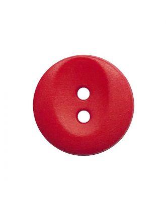 Polyamidknopf rund mit 2 Löchern - Größe:  13mm - Farbe: rot - ArtNr.: 222067