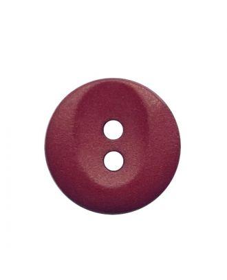 Polyamidknopf rund mit 2 Löchern - Größe:  13mm - Farbe: weinrot - ArtNr.: 222068