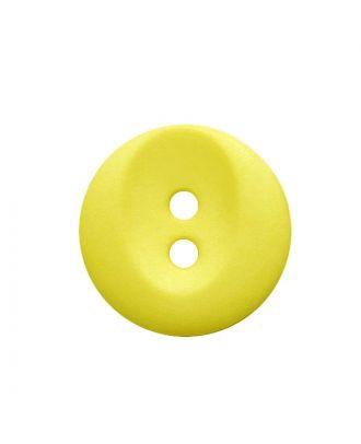 Polyamidknopf rund mit 2 Löchern - Größe:  13mm - Farbe: gelb - ArtNr.: 222069