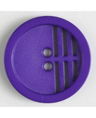 Polyamidknopf umrandet, ein Drittel längs perforiert, 2 Loch - Größe: 20mm - Farbe: lila - Art.Nr. 266602