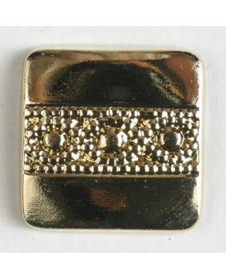 Metall-Imitation mit aufwändigem Golddekor mit Öse - Größe: 25mm - Farbe: echt vergoldet - Art.Nr. 320296