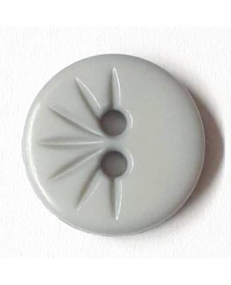 Blusenknopf mit halbseitigem Strahlendesign mit 2 Löchern - Größe: 13mm - Farbe: grau - Art.Nr. 212800