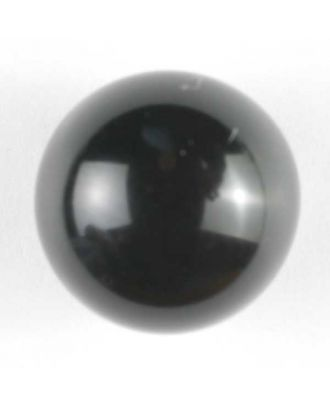 glänzende konvexe Halbkugel mit Öse  - Größe: 18mm - Farbe: schwarz - Art.Nr. 241257