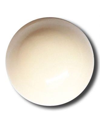 glänzende konvexe Halbkugel mit Öse  - Größe: 18mm - Farbe: beige - Art.Nr. 242838
