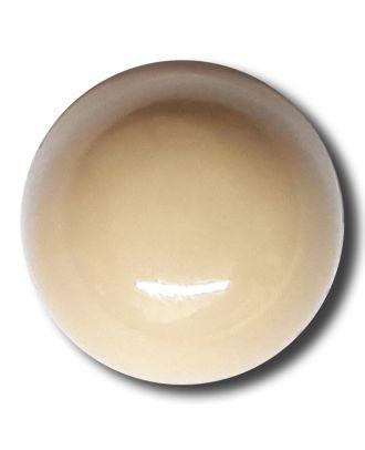 glänzende konvexe Halbkugel mit Öse  - Größe: 18mm - Farbe: beige - Art.Nr. 242840