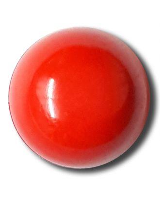 glänzende konvexe Halbkugel mit Öse  - Größe: 18mm - Farbe: rot - Art.Nr. 242846