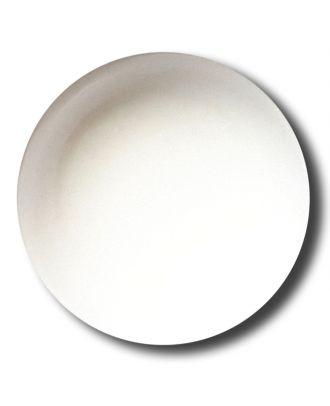 glänzende konvexe Halbkugel mit Öse  - Größe: 15mm - Farbe: weiss - Art.Nr. 221900