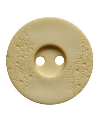 Polyamidknopf rund mit feiner Struktur und 2 Löchern - Größe:  23mm - Farbe: hellbeige - ArtNr.: 338811