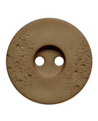 Polyamidknopf rund mit feiner Struktur und 2 Löchern - Größe:  23mm - Farbe: beige - ArtNr.: 338812