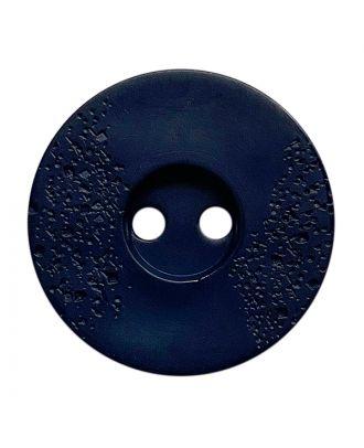 Polyamidknopf rund mit feiner Struktur und 2 Löchern - Größe:  23mm - Farbe: dunkelblau - ArtNr.: 338813