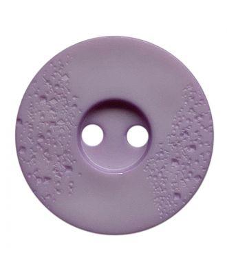 Polyamidknopf rund mit feiner Struktur und 2 Löchern - Größe:  23mm - Farbe: flieder - ArtNr.: 338814