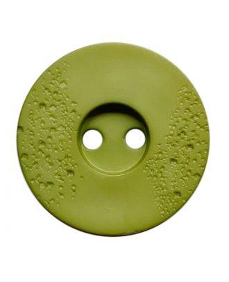 Polyamidknopf rund mit feiner Struktur und 2 Löchern - Größe:  23mm - Farbe: hellgrün - ArtNr.: 338815