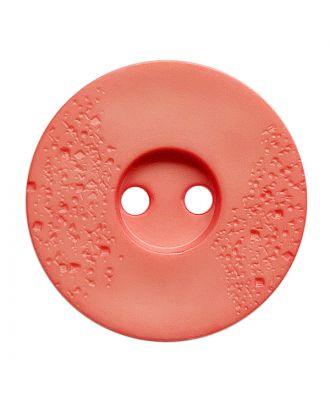 Polyamidknopf rund mit feiner Struktur und 2 Löchern - Größe:  23mm - Farbe: pink - ArtNr.: 338817