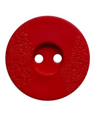 Polyamidknopf rund mit feiner Struktur und 2 Löchern - Größe:  23mm - Farbe: rot - ArtNr.: 338818