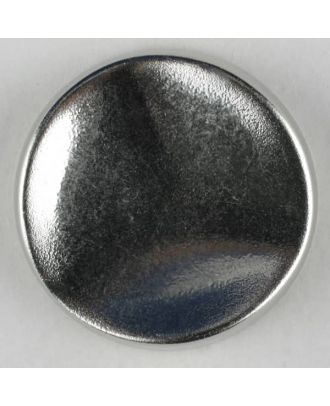 Polyamidknopf rund mit gehämmerter Oberfläche mit Öse - Größe: 28mm - Farbe: mattsilber - Art.Nr. 341108