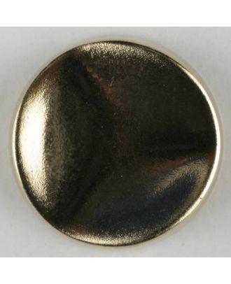 Polyamidknopf rund mit gehämmerter Oberfläche mit Öse - Größe: 28mm - Farbe: mattgold - Art.Nr. 350420