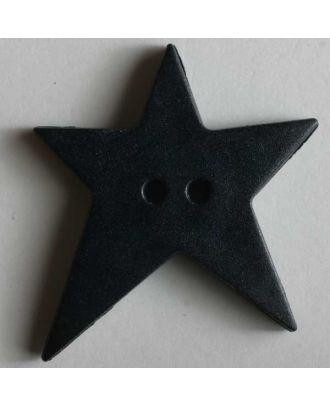 Quiltingknopf in Form eines asymmetrischen Sternes - Größe: 15mm - Farbe: blau - Art.Nr. 189061