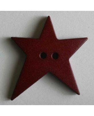 Quiltingknopf in Form eines asymmetrischen Sternes - Größe: 28mm - Farbe: rot - Art.Nr. 259072