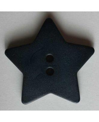 Quiltingknopf in Form eines hübschen Sternes - Größe: 15mm - Farbe: blau - Art.Nr. 189036