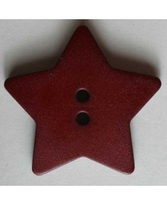 Quiltingknopf in Form eines hübschen Sternes - Größe: 28mm - Farbe: rot - Art.Nr. 289047