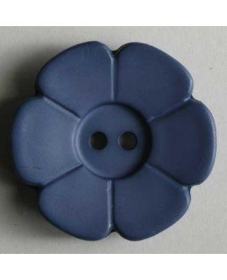 Quiltingknopf in Form einer hübschen Blume -  Größe: 15mm - Farbe: blau - Art.Nr. 219086