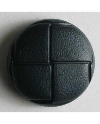 Lederknopf Imitat - Größe: 20mm - Farbe: blau - Art.Nr. 260953