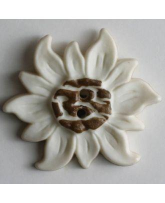 Edelweissknopf - Größe: 32mm - Farbe: braun - Art.Nr. 340634