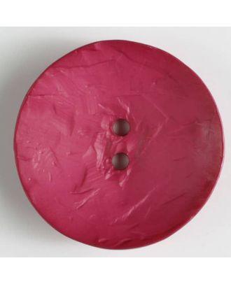 auffallend großer Knopf, rund - Größe: 60mm - Farbe: pink - Art.Nr. 410115