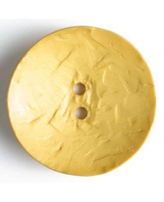 Modeknopf rund, Strukturoberfläche, 2 Loch -Größe: 60mm - Farbe: gelb - Art.Nr. 410041